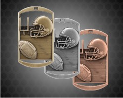 2 3/4 inch Football DT Medals