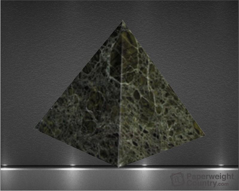 3 x 3 x 3 Inch Jade Leaf Green Pyramid