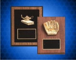 Gold Plated Walnut Plaques