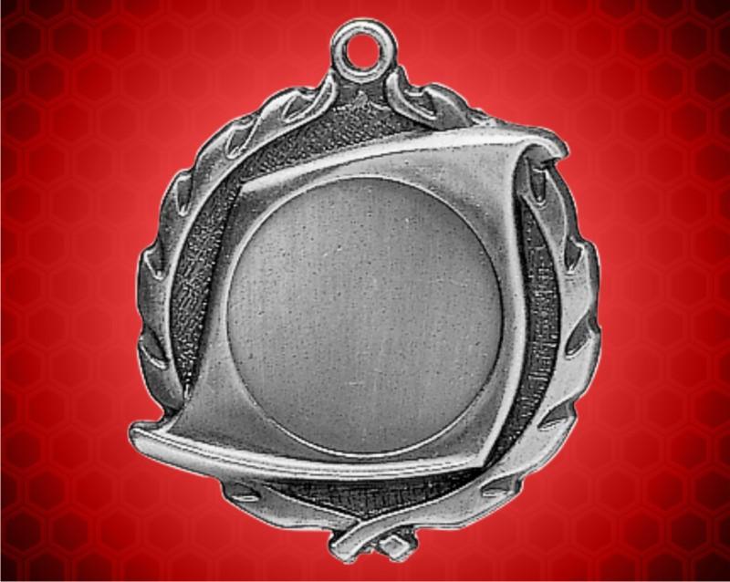 "1 3/4 inch Silver 1"" Holder Wreath Medal"