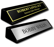 Black Piano Finish Desk Plates