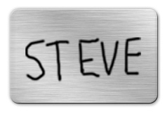 Brushed Silver Dry Erase Name Tag