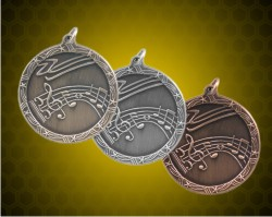 1 3/4 Inch Music Shooting Star Medal