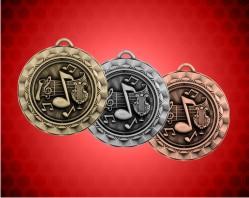 2 5/16 inch Music Spinner Medal