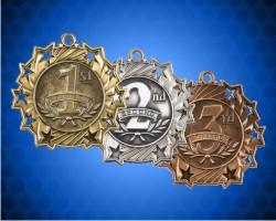 2 1/4 Inch Generic Ten Star Medals