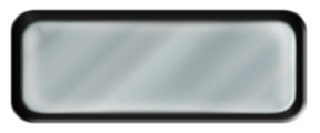 Blank Shiny Silver Nametag with a Black Metal Border