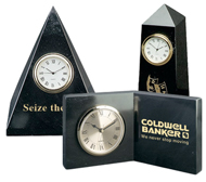 Marble Clock Paperweights