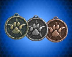 2 inch Paw Print Value Medal