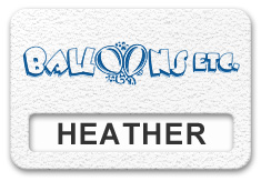 Reusable Textured Plastic Windowed Nametag: Winter White with Blue - 822-205