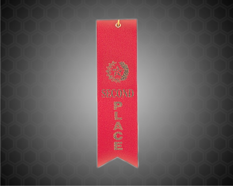 Red 2nd Place Carded Ribbon