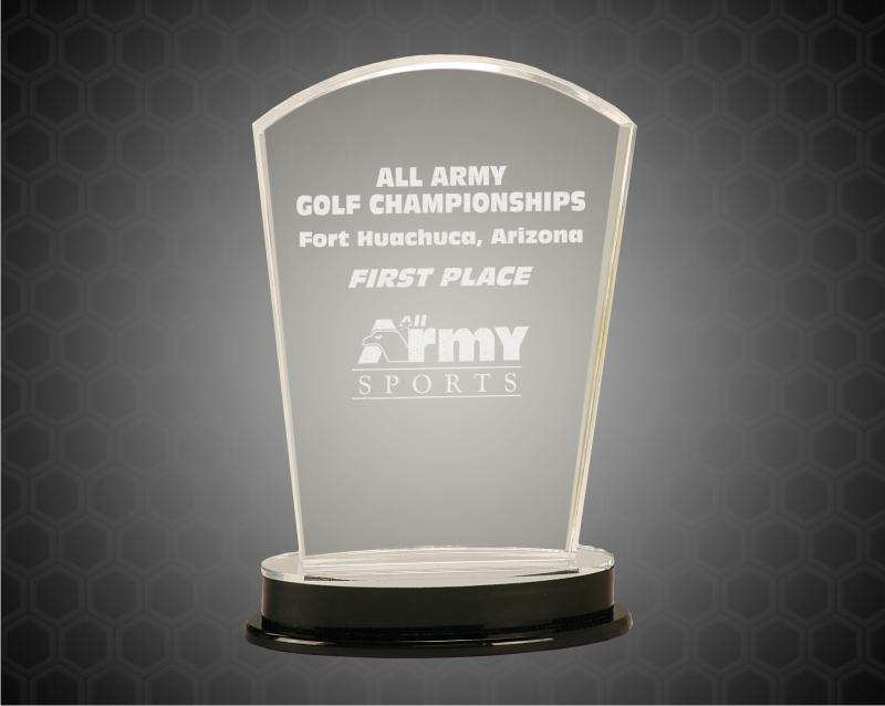 9 1/4 Inch Silver Arch Impress Acrylic Award