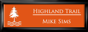 Framed Name Tag: Black Plastic (squared corners) - Tangerine and White Plastic Insert