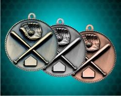 1 1/2 Inch Baseball Die Cast Medal