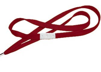 Burgundy Flat Woven Break-Away Lanyard