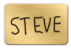 Brushed Gold Dry Erase Name Tag