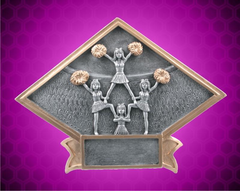 6 x 8 1/2 Inch Cheerleader Diamond Resin