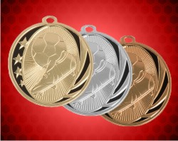 2 Inch Soccer Laserable Midnite Medals