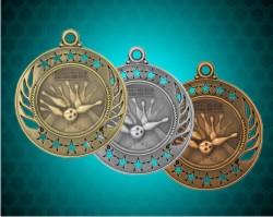 2 1/4 Inch Bowling Galaxy Medals
