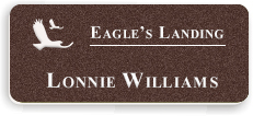 Textured Plastic Nametag: Coffee Bean with White - 822-892