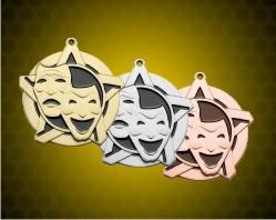 2 1/4 inch Drama Super Star Medals