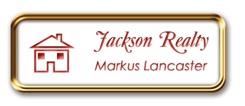 Rose Gold Metal Framed Nametag with White and Crimson
