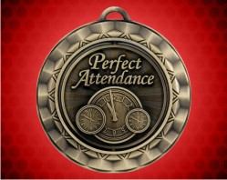 2 5/16 Inch Perfect Attendance Spinner Medal