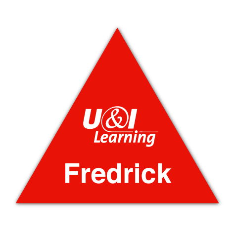 Smooth Plastic Triangle Shape Name Tag