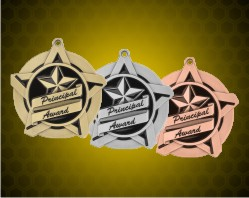 2 1/4 inch Principal's Award Super Star Medals