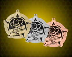 2 1/4 inch Spelling Bee Super Star Medals
