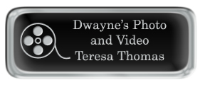 Metal Name Tag: Black and Silver with Epoxy and Shiny Silver Metal Border