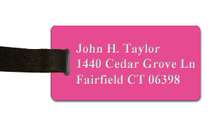 Smooth Plastic Name Tag: Pink with White - LM922-662