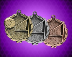 1 3/4 Inch Volleyball Wreath Medal