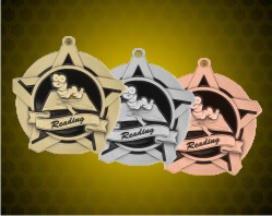 2 1/4 inch Reading Super Star Medals