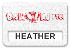 Reusable Textured Plastic Windowed Nametag: White with Red - 822-246
