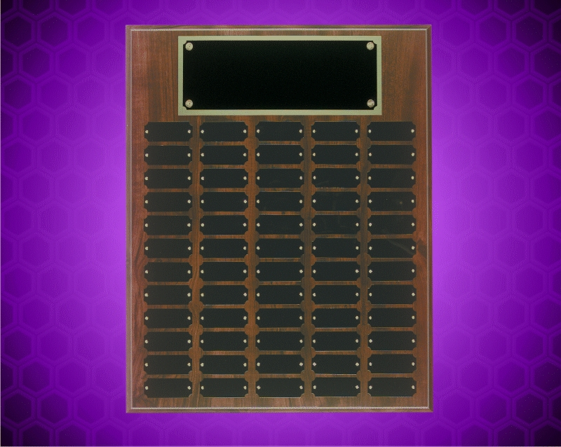 16 x 20 Inch Cherry Finish Perpetual Plaque (60 Plates)