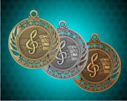2 1/4 Inch Music Galaxy Medal