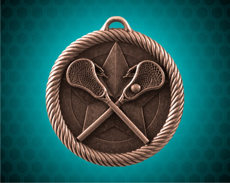 2 inch Bronze Lacrosse Value Medal