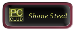 Metal Name Tag: Black and Gold with Epoxy and Burgundy Metal Border