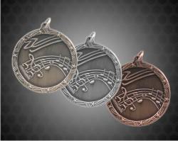 2 1/2 Inch Music Shooting Star Medal