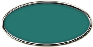 Blank Silver Framed Nametag Celadon Green