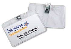 """Name Badge Holder Sleeve with Clip Fastener 2.75"""" x 3.75"""""""