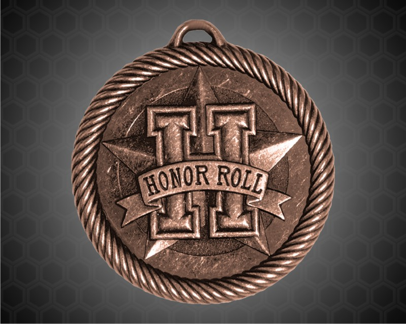 2 inch Bronze Honor Roll Value Medal