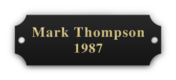 """7/8"""" x 2-1/2"""" Black Plaque Plate with Gold Engraving"""