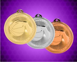 2 Inch Basketball Laserable BriteLaser Medals