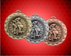 2 5/16 Inch Wrestling Spinner Medal