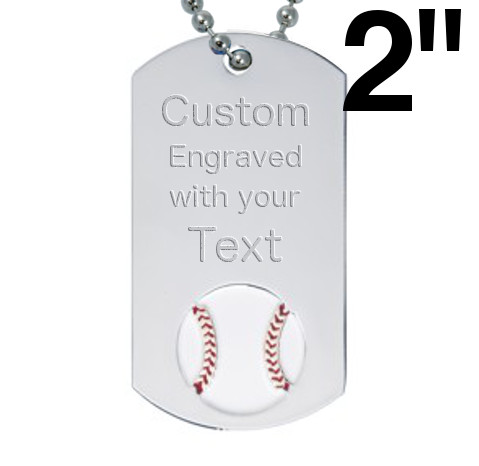 Baseball Dog Tags