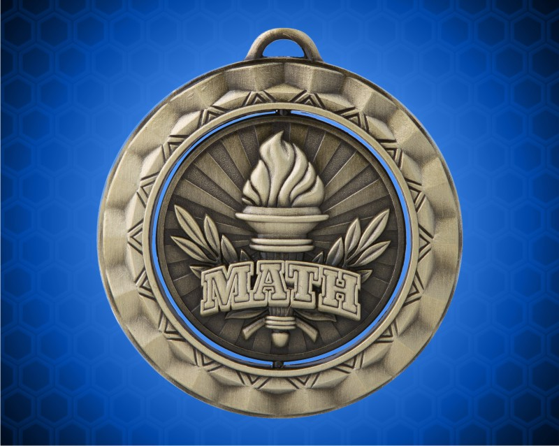 2 5/16 Inch Gold Math Spinner Medal