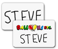 Dry Erase Metal Name Tags