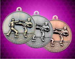 2 Inch Karate Die Cast Medal