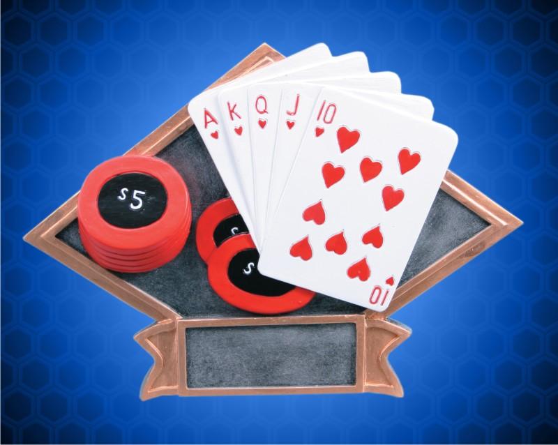 6 x 8 1/2 Inch Poker Diamond Resin